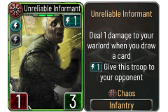 1 Unreliable Informant (Chaos)